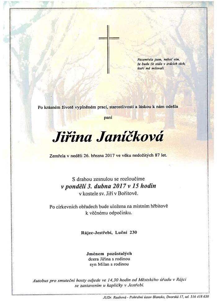 Jiřina Janíčková