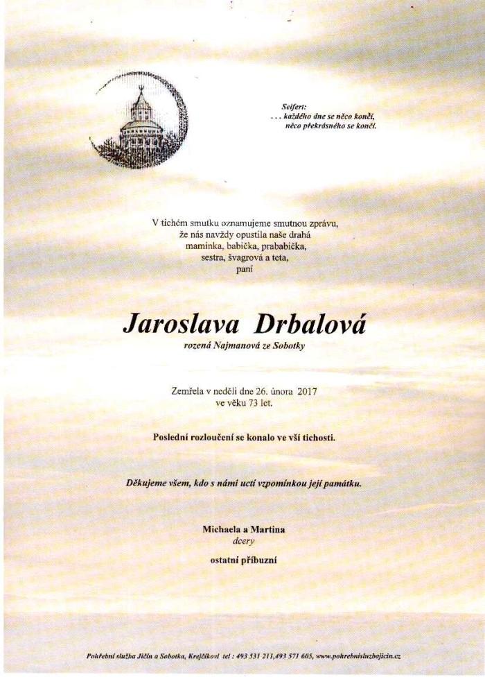 Jaroslava Drbalová