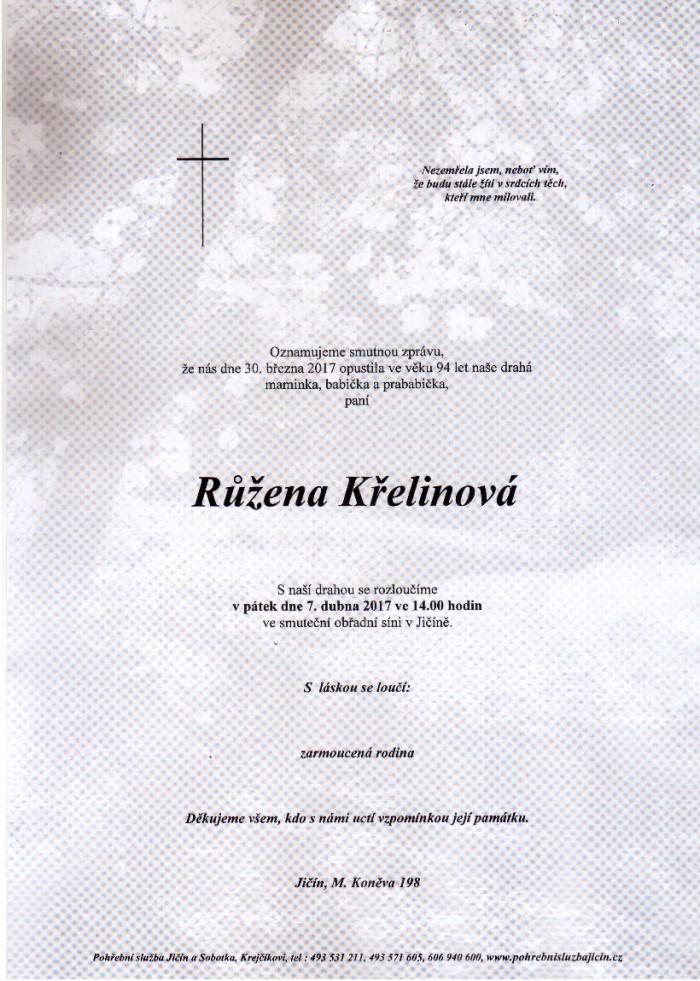 Růžena Křelinová