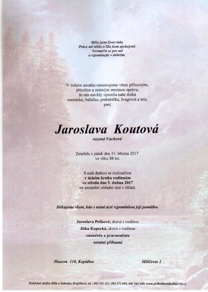 Jaroslava Koutová