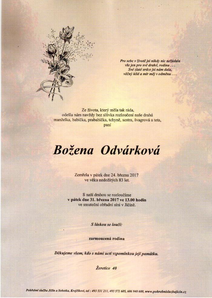 Božena Odvárková