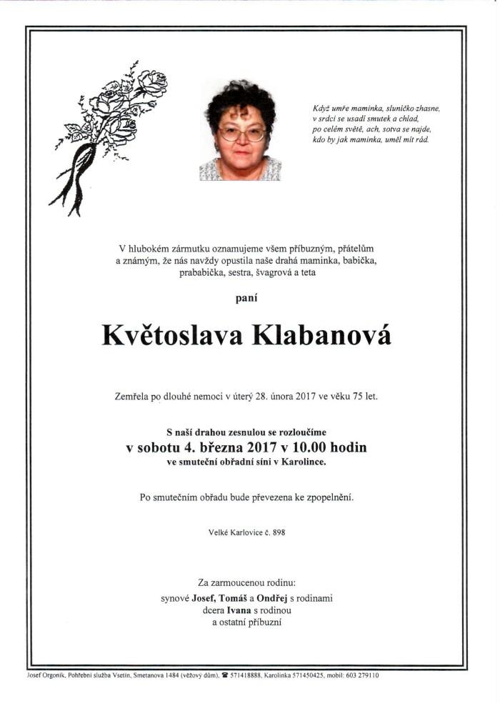 Květoslava Klabanová