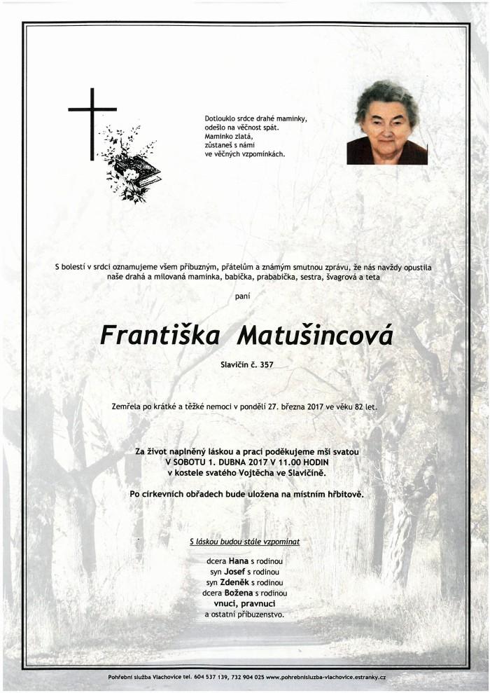 Františka Matušincová