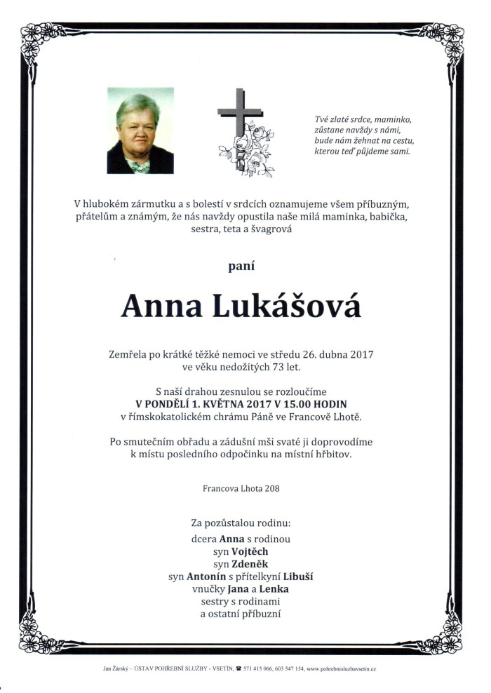 Anna Lukášová