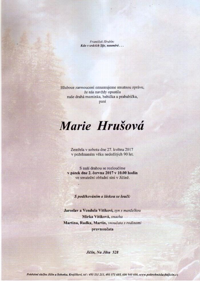 Marie Hrušová