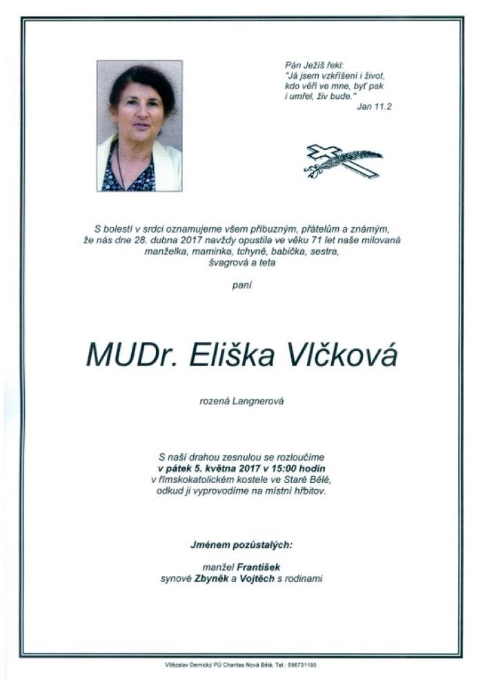 MUDr. Eliška Vlčková