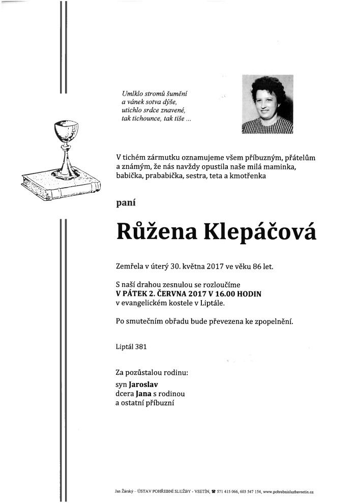 Růžena Klepáčová
