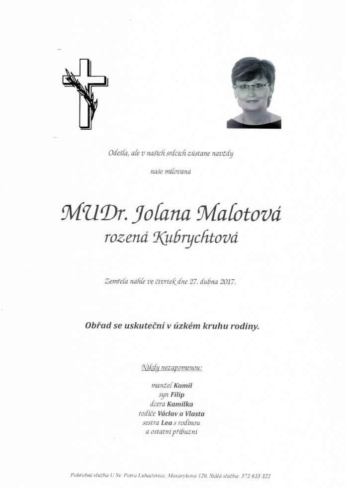MUDr. Jolana Malotová