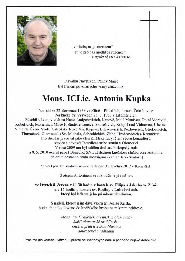 Mons. ICLic. Antonín Kupka