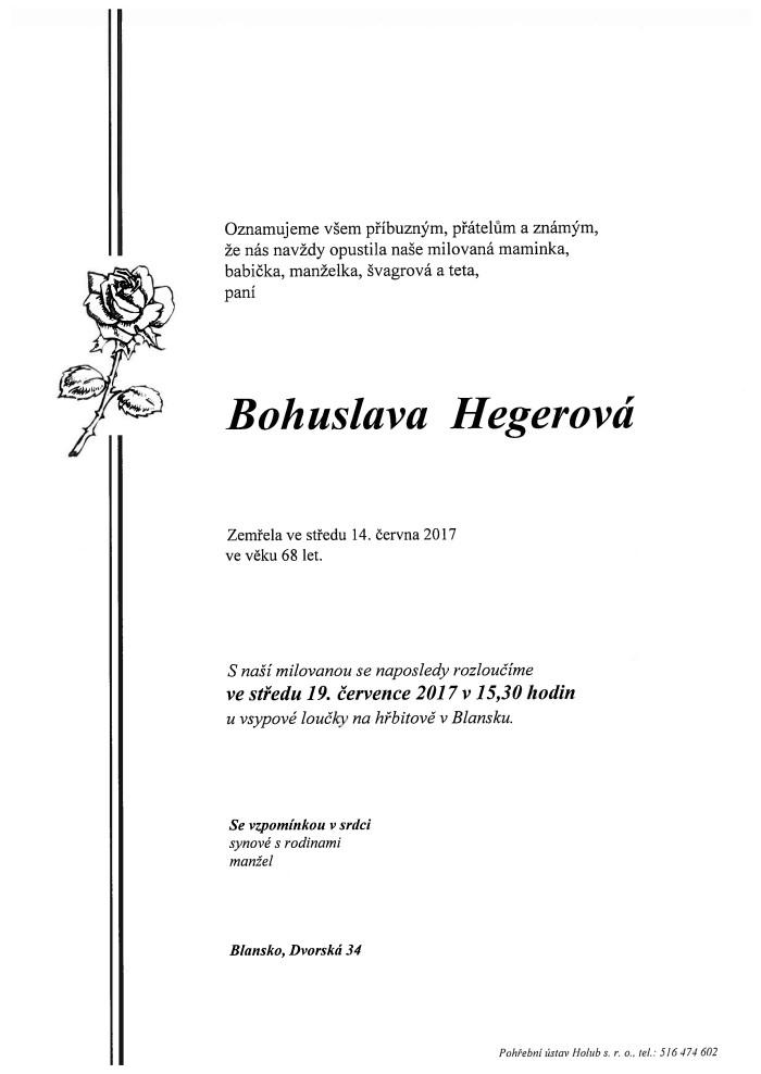 Bohuslava Hegerová