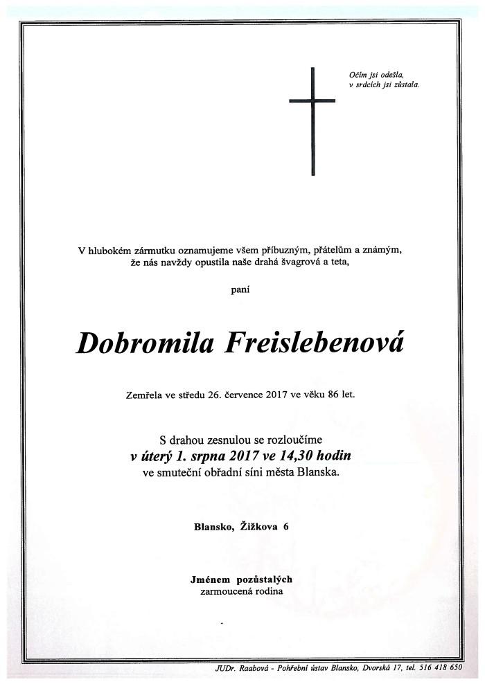 Dobromila Freislebenová