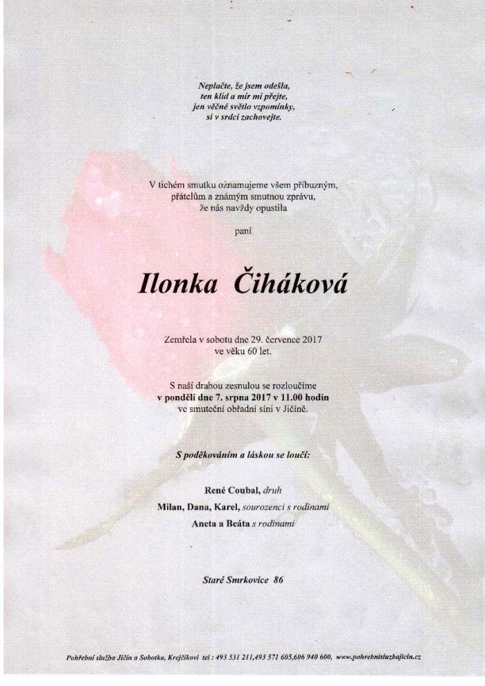 Ilonka Čiháková