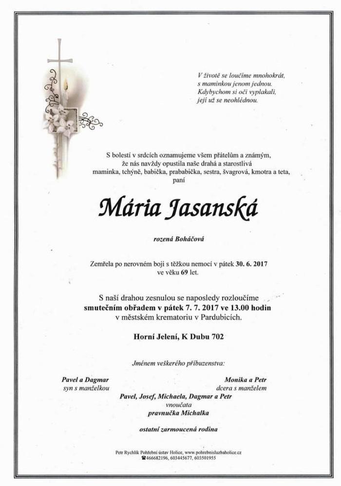 Mária Jasanská