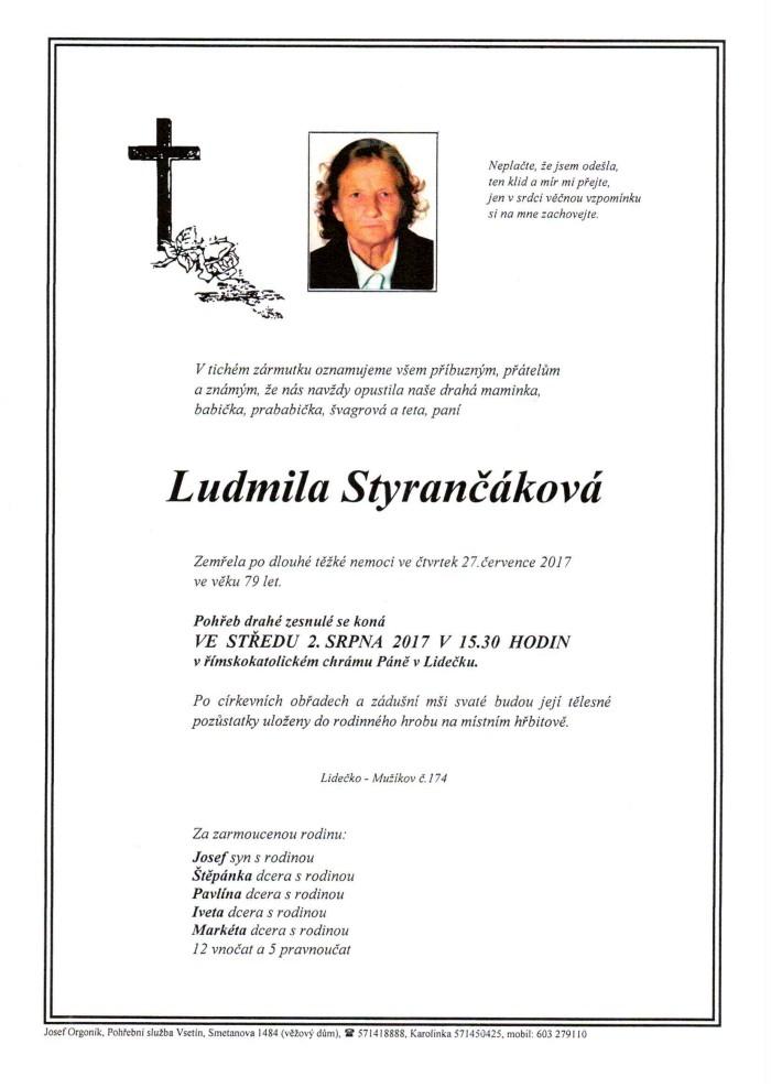 Ludmila Styrančáková