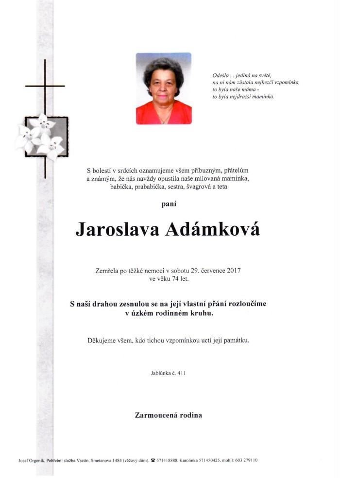 Jaroslava Adámková