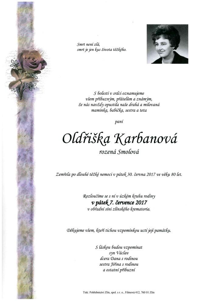 Oldřiška Karbanová