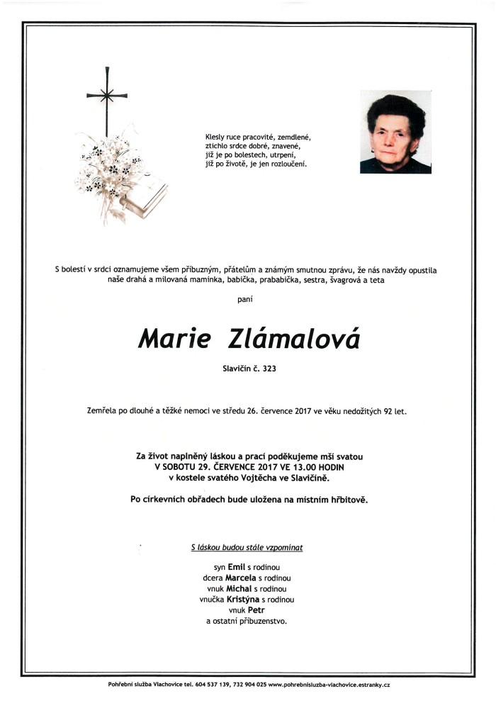 Marie Zlámalová