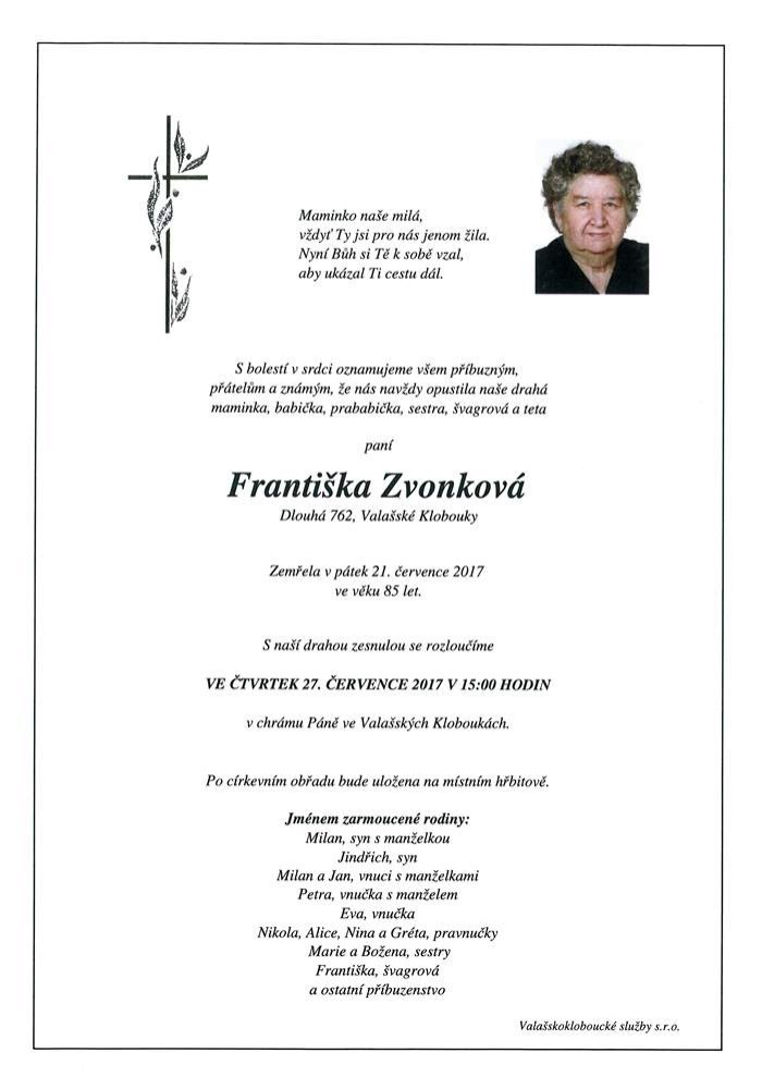 Františka Zvonková