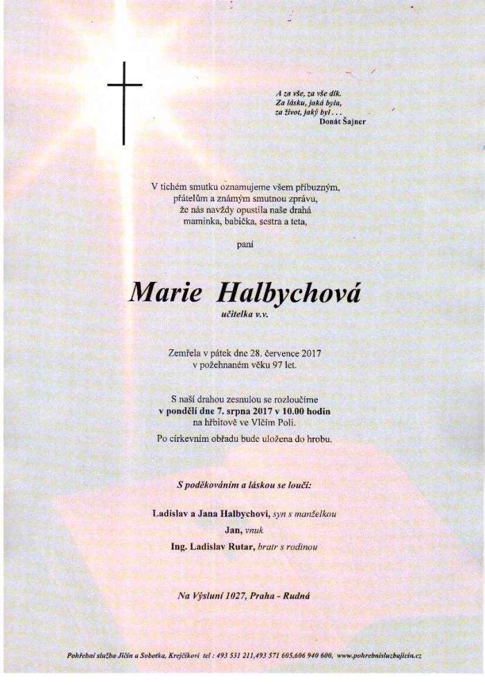 Marie Halbychová