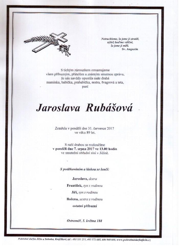 Jaroslava Rubášová