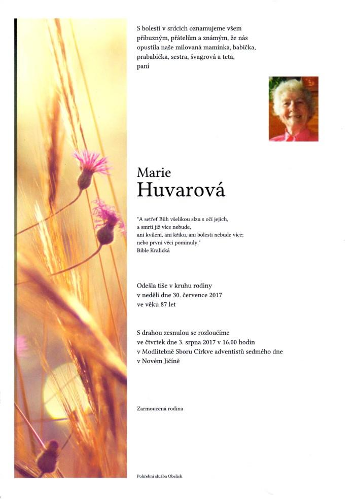Marie Huvarová