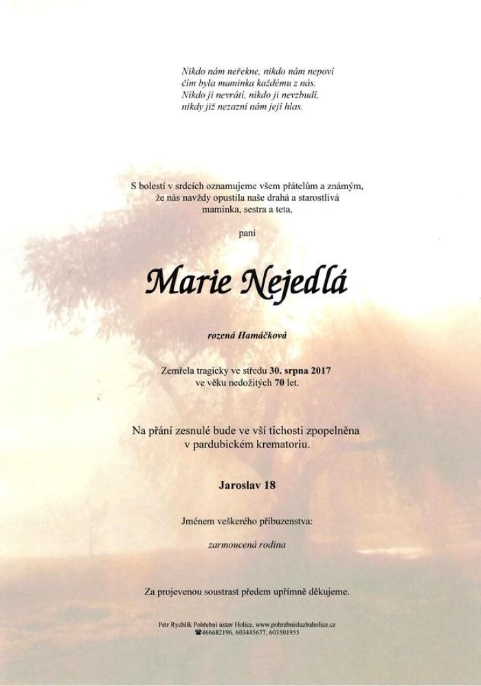 Marie Nejedlá