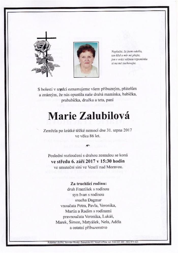 Marie Zalubilová