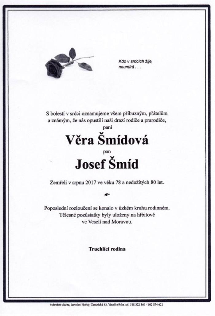 Věra Šmídová, Josef Šmíd