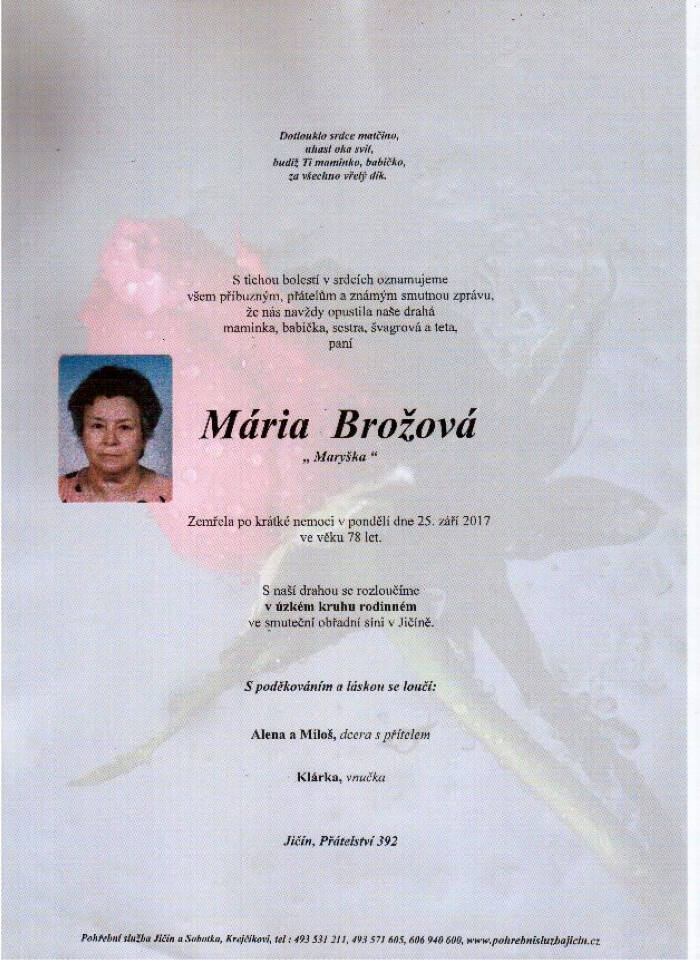Mária Brožová