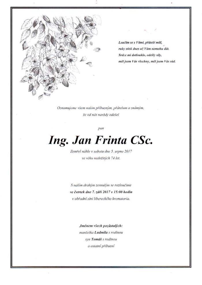 Ing. Jan Frinta, CSc.