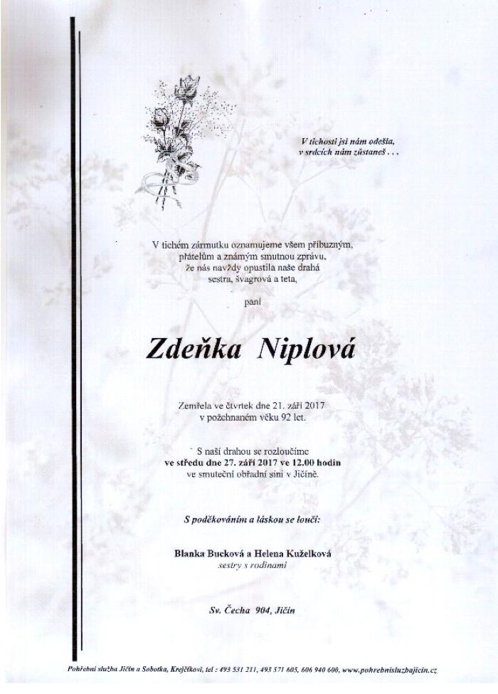 Zdeňka Niplová
