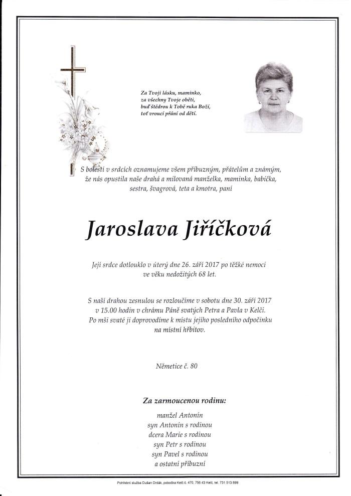 Jaroslava Jiříčková