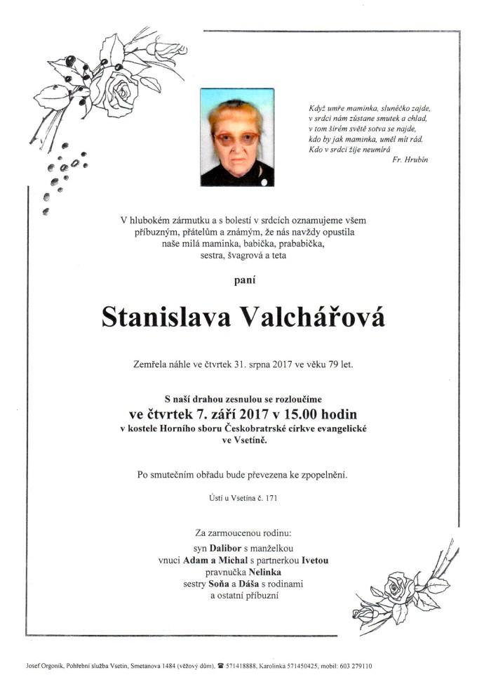 Stanislava Valchářová