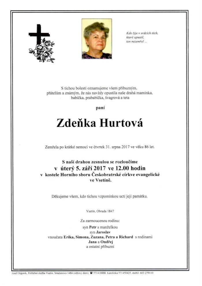 Zdeňka Hurtová