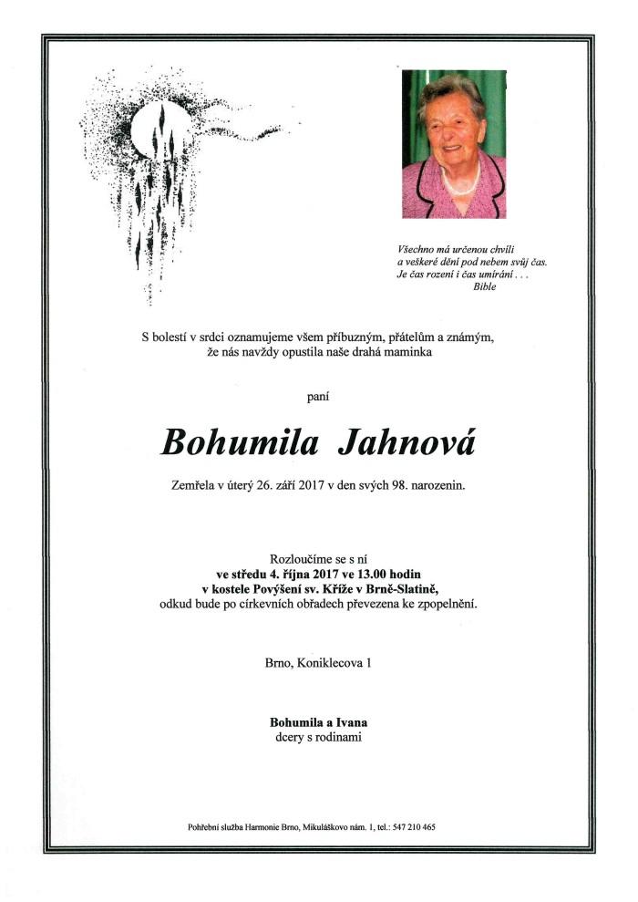 Bohumila Jahnová