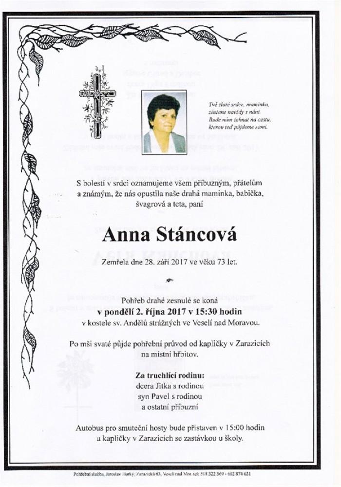 Anna Stáncová