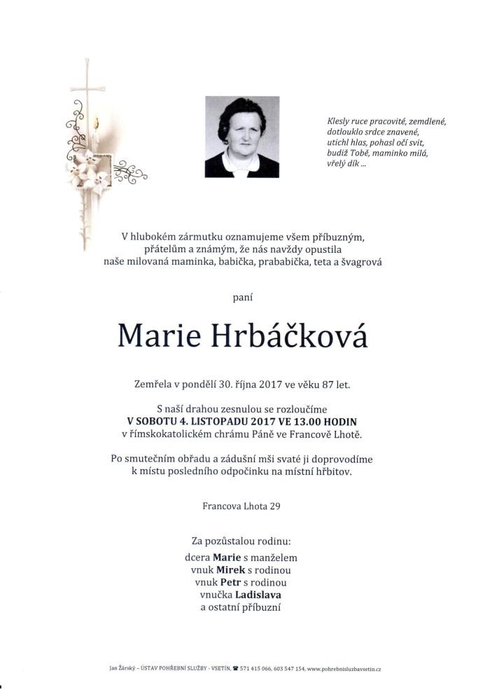 Marie Hrbáčková