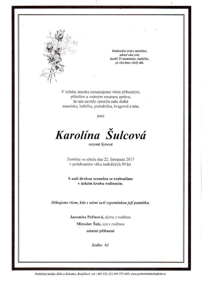 Karolína Šulcová