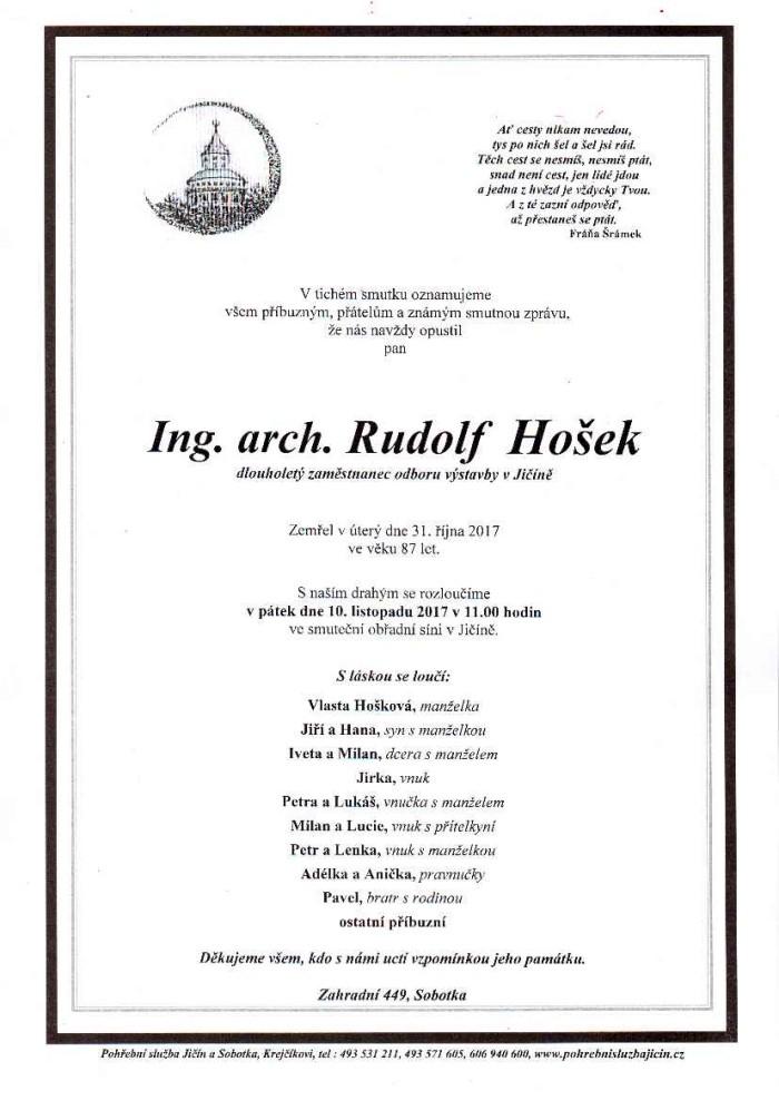 Ing. arch. Rudolf Hošek