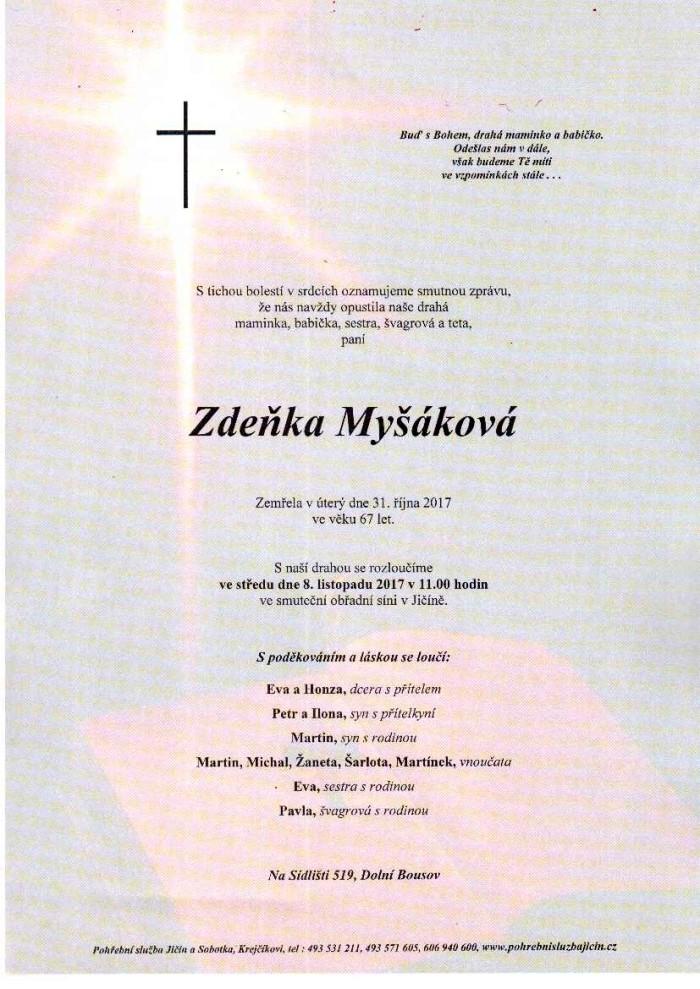 Zdeňka Myšáková