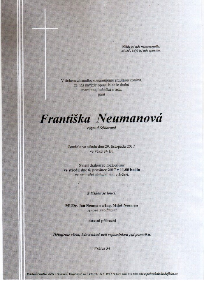 Františka Neumanová