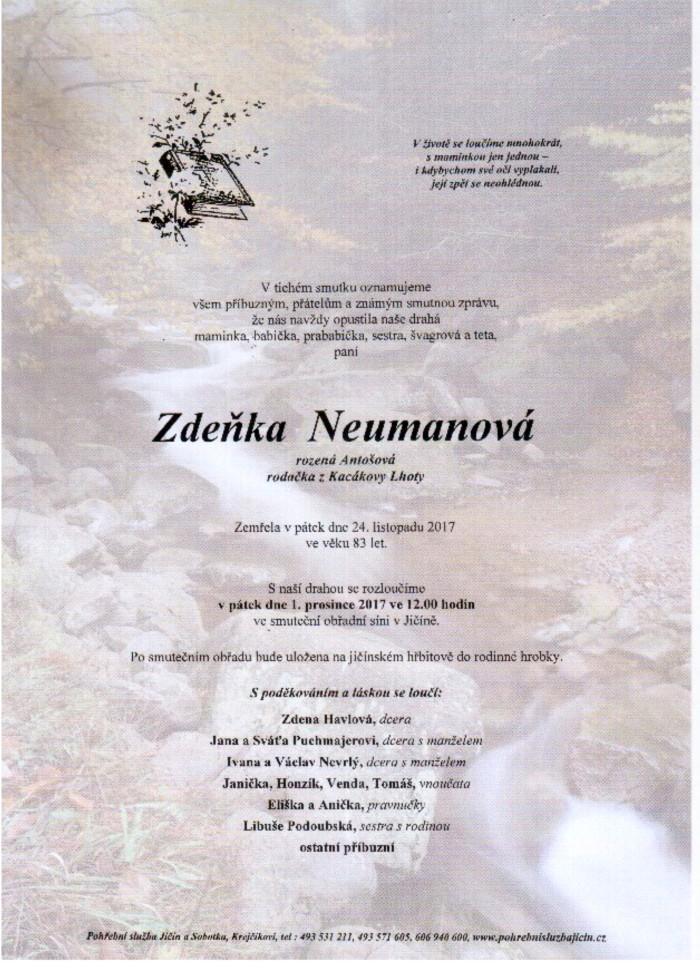 Zdeňka Neumanová