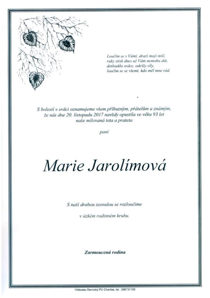 Marie Jarolímová