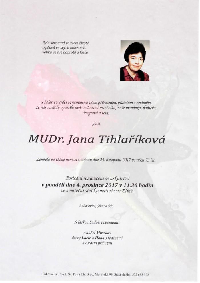MUDr. Jana Tihlaříková