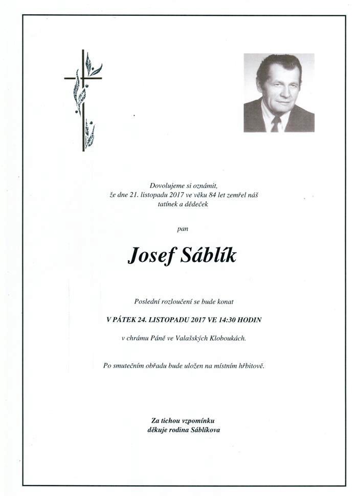 Josef Sáblík