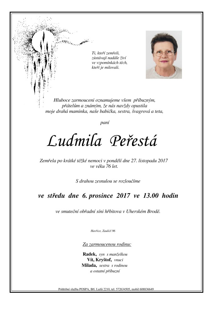 Ludmila Peřestá