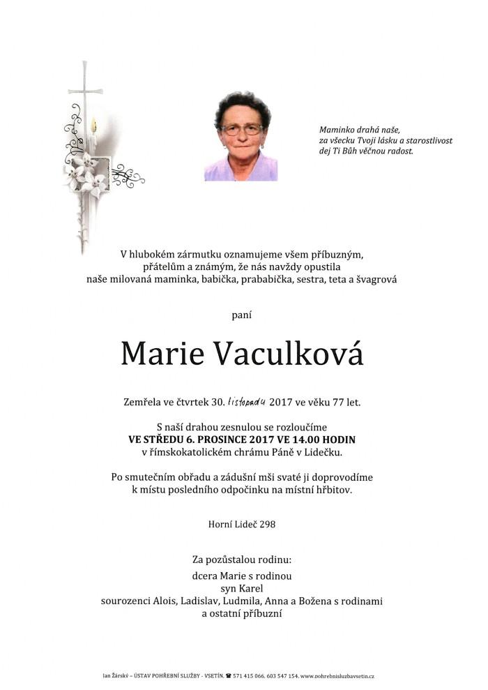 Marie Vaculková