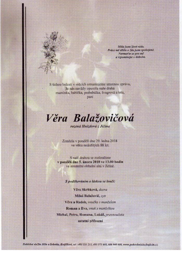 Věra Balažovičová