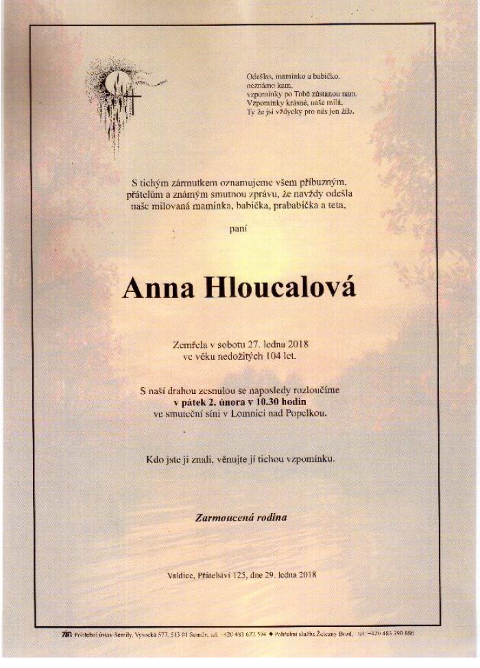 Anna Hloucalová