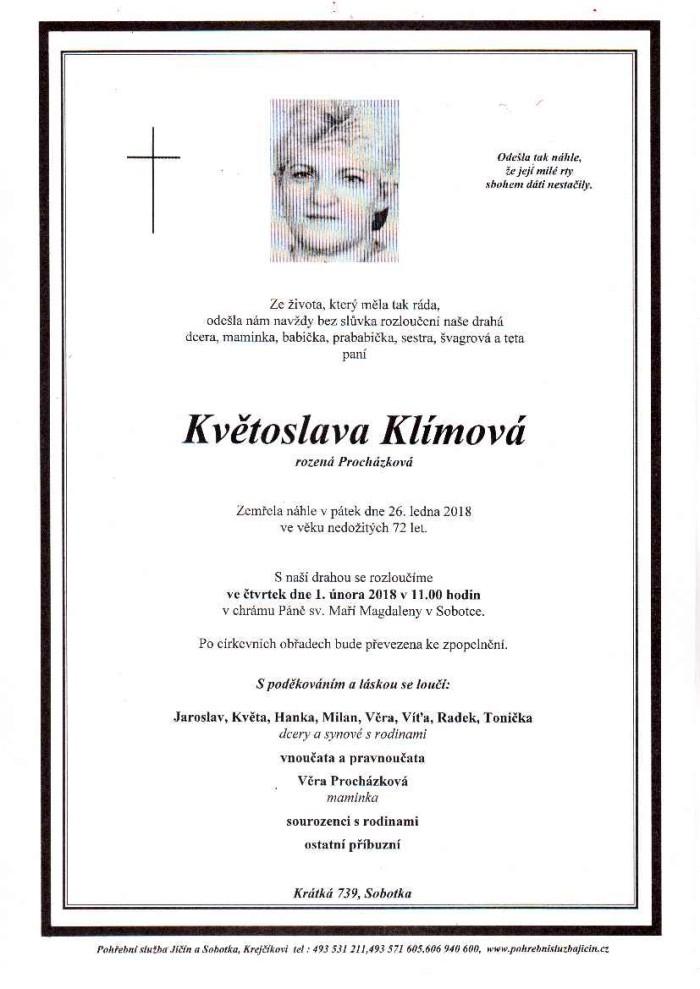 Květoslava Klímová